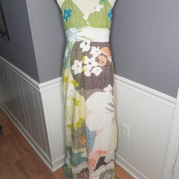 027d96b82912 Roxy | Boho Hippie Maxi Halter Dress. M_5cc0eb90689ebc3735eba342
